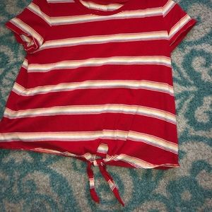 American eagle knotted t shirt